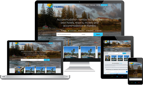 Accommodation Yamba displayed beautifully on multiple devices