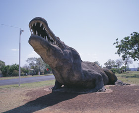 Crocodile Statue - Accommodation Yamba