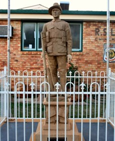 Soldier Statue Memorial Chinchilla - Accommodation Yamba