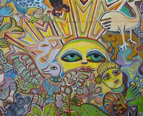 The Painting of Life by Mirka Mora - Accommodation Yamba