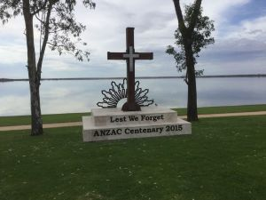 Anzac Centenary Cross - Accommodation Yamba