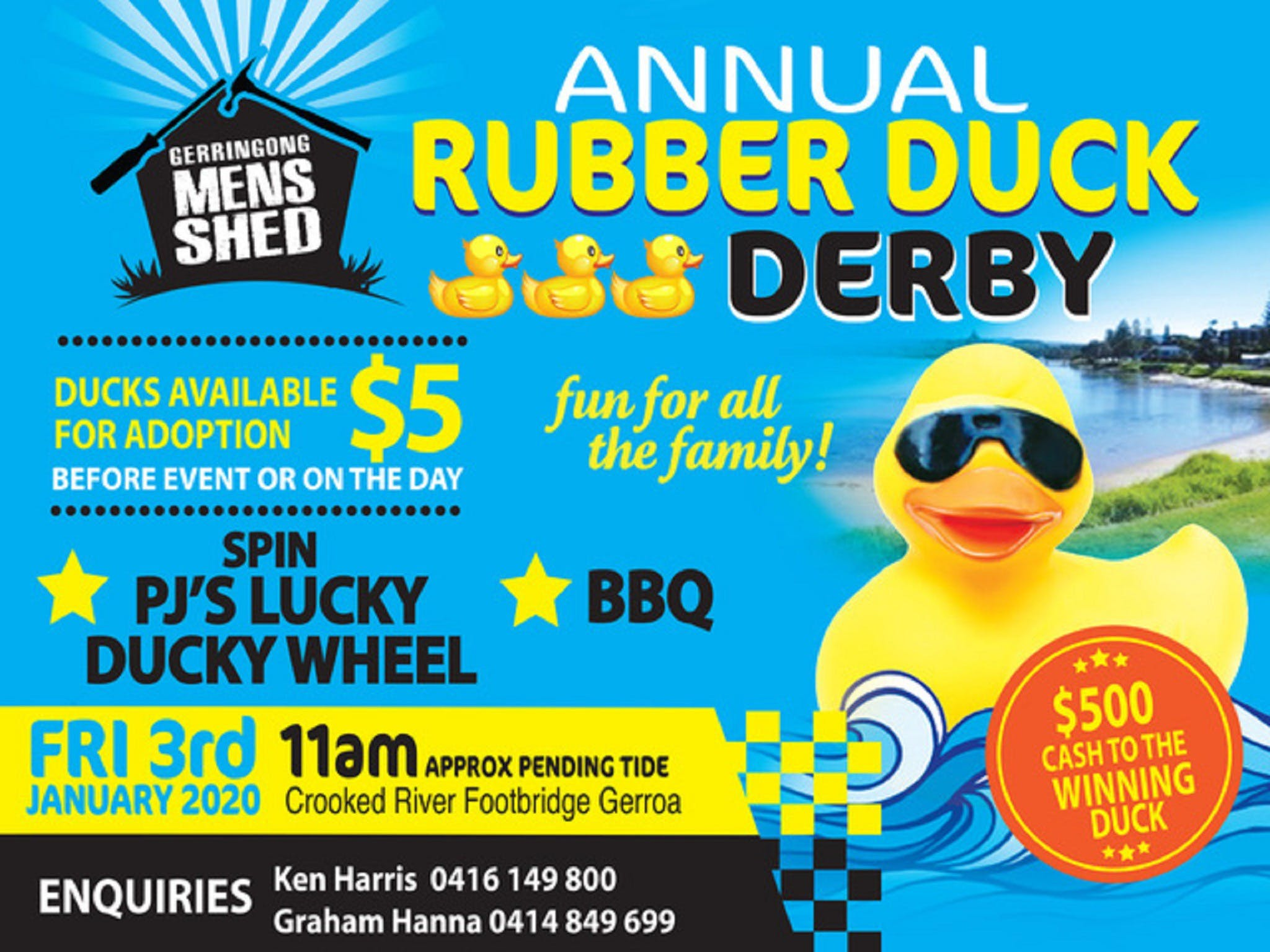Gerringong Mens Shed Annual Duck Derby - Accommodation Yamba